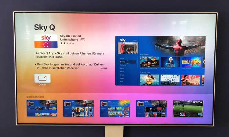 Sky Q App installieren: App herunterladen und öffnen