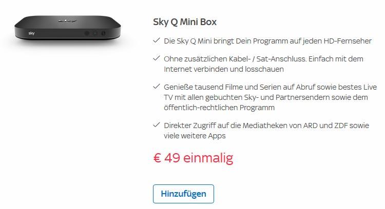 Sky Q Mini bestellen
