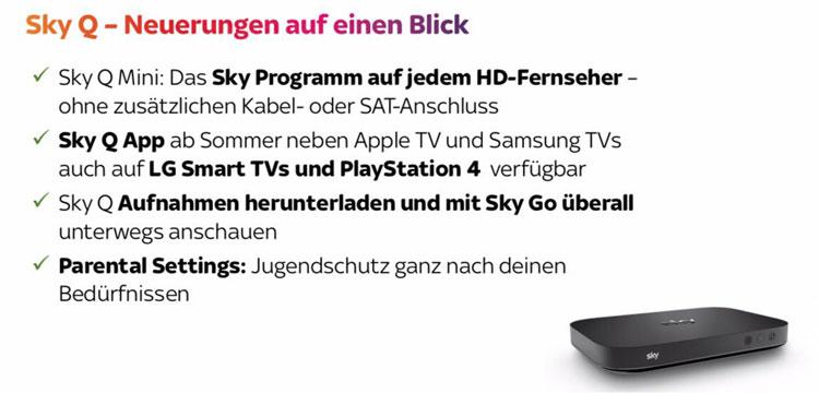 Sky Q Neuerungen 2019