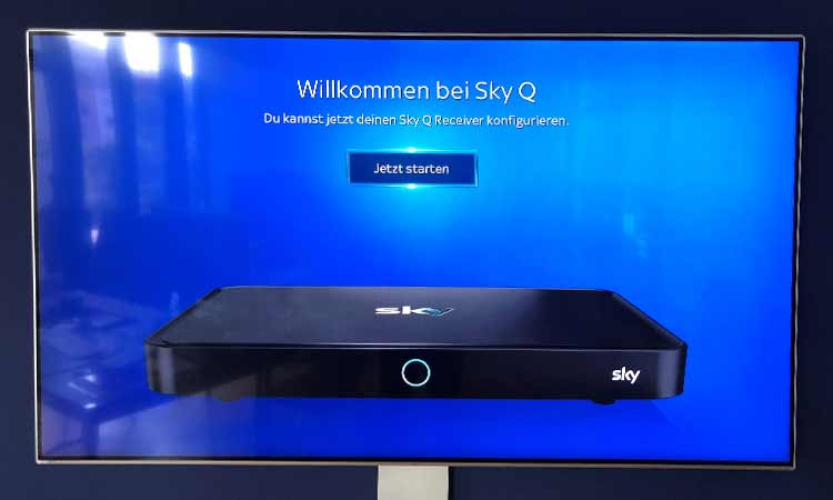 Sky Q Receiver einrichten