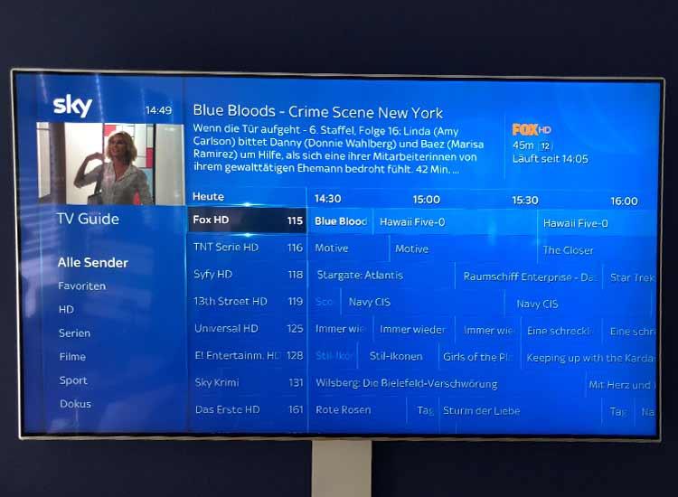 Sky Q TV-Guide