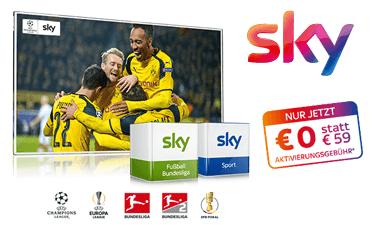 Sky Bundesliga + Sport Angebot