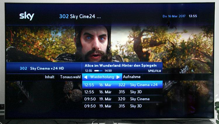 Sky Test - Wiederholung bei Sky Cinema