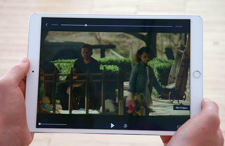 Sky Ticket App auf dem iPad