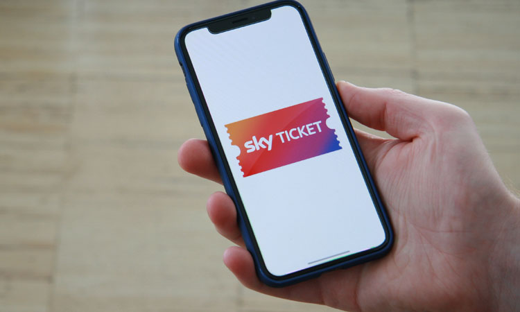 Sky Ticket App auf dem iPhone