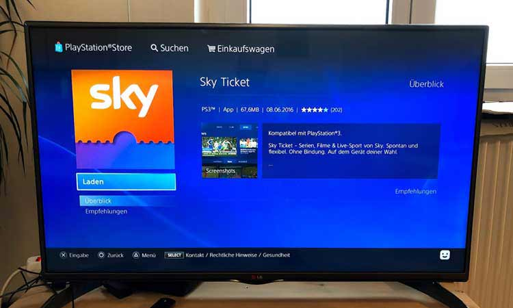 sky ticket ps3