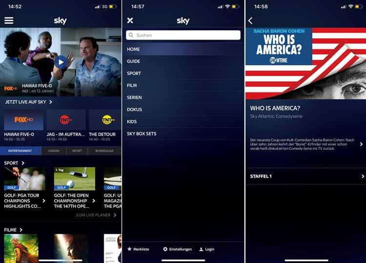 Sky Ticket App Screenshots