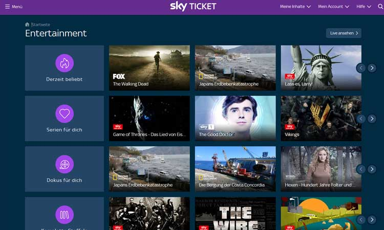 Sky Ticket Player