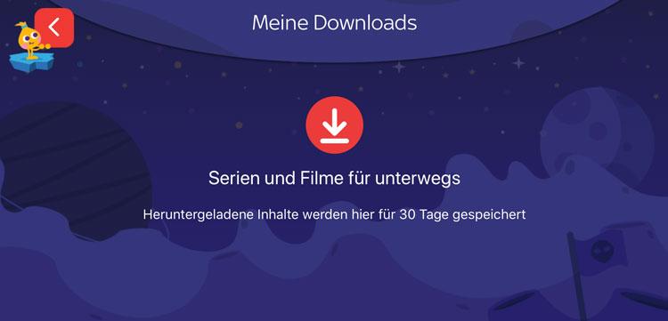 """Sky Ticket: Downloads im Bereich """"Kids"""""""