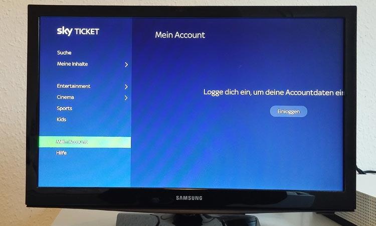 Sky Ticket Xbox Account verwalten