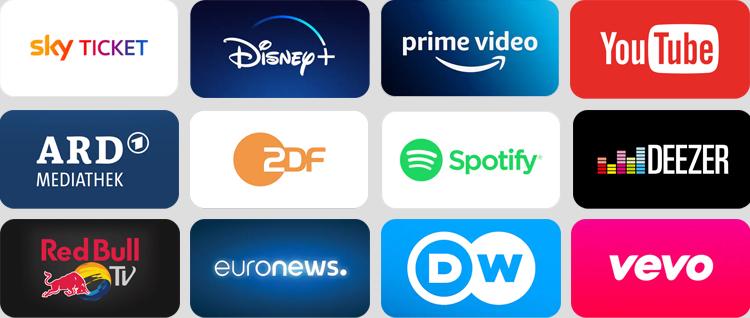 Apps für den Sky TV Stick