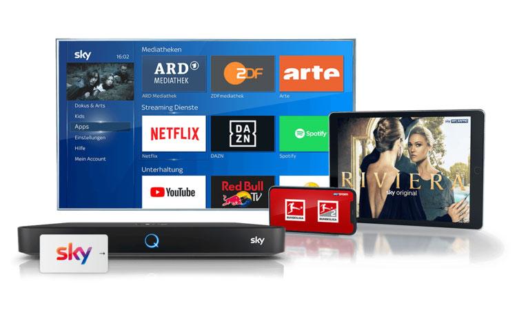 Sky und Netflix auf unterschiedlichen Endgeräten