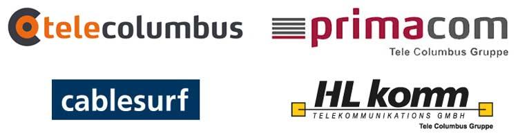 Sammlung Logos Tele Columbus Marken