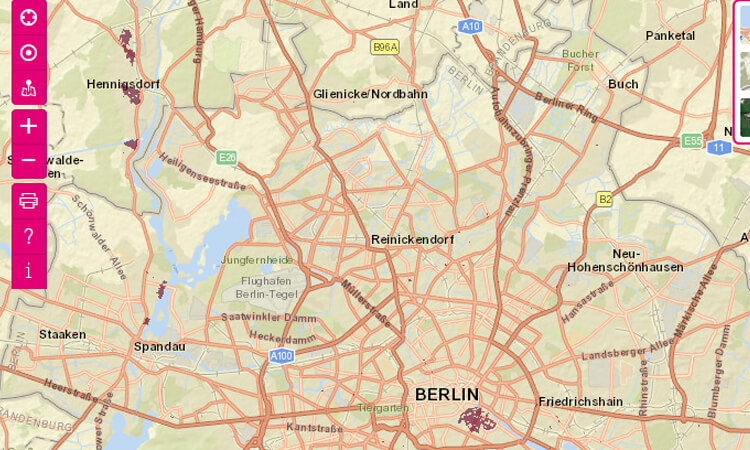 Beispiel: FTTH-Gebiete in Berlin