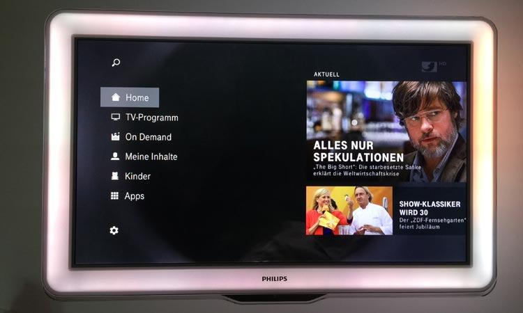 EntertainTV Funktionen - Übersicht Hautmenü