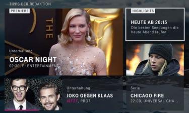 EntertainTV: Neue Benutzer-Oberfläche mit Tipps der Redaktion