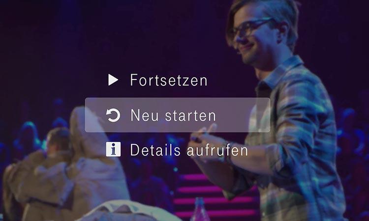 EntertainTV Replay-Funktion: Filme oder Serien mit nur einem Klick von vorne starten