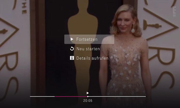 Die Restart-Funktion bei EntertainTV Plus
