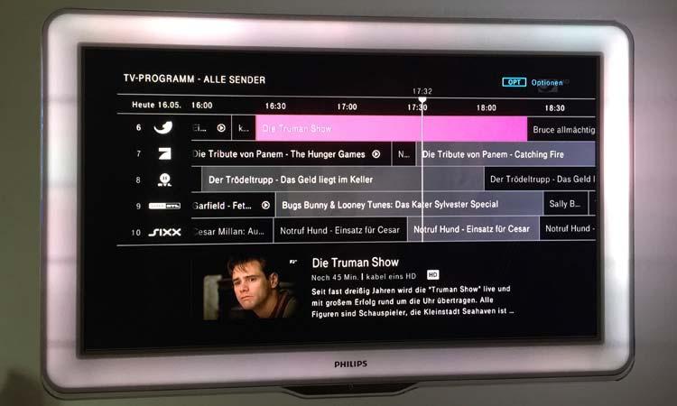 Telekom Entertain: Elektronischer Programmführer (EPG)