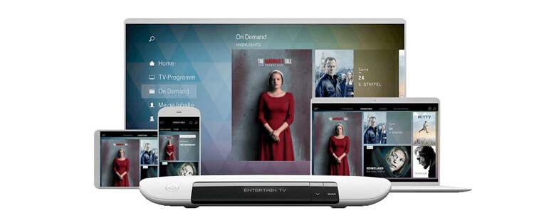 EntertainTV Plus läuft auf Smartphone, Tablet, PC und Fernseher
