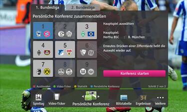 Menü bei Telekom Liga Total