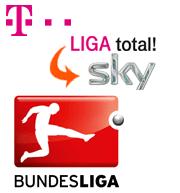 Logos: Telekom, Liga total, Sky