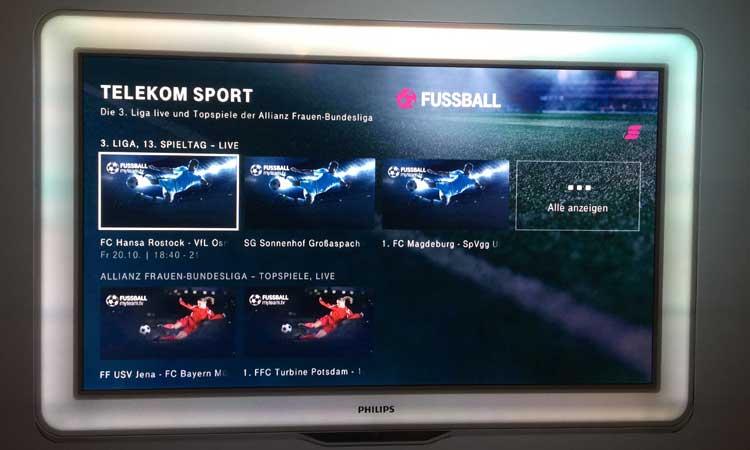 Telekom Sport auf dem Telekom Media Receiver