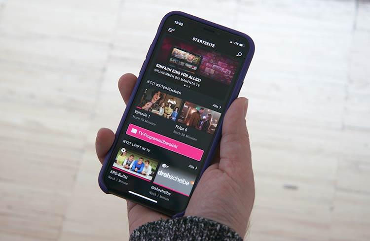 Magenta TV App auf dem Smartphone