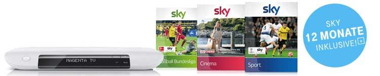 Magenta TV 12 Monate lang 1 Sky Paket kostenlos