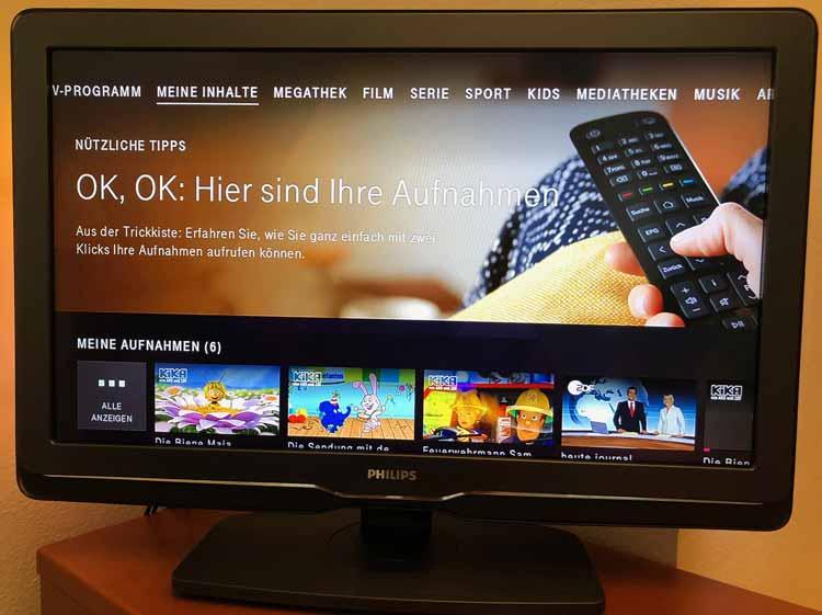 Magenta TV Meine Aufnahmen