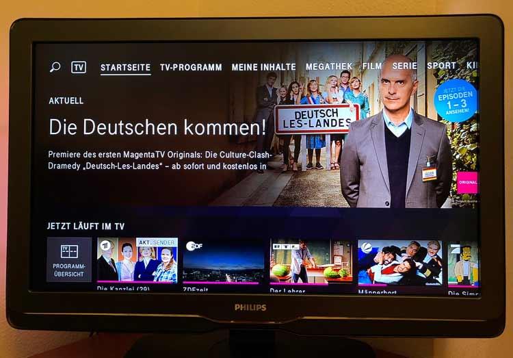 Magenta TV Test: Magenta TV Startseite