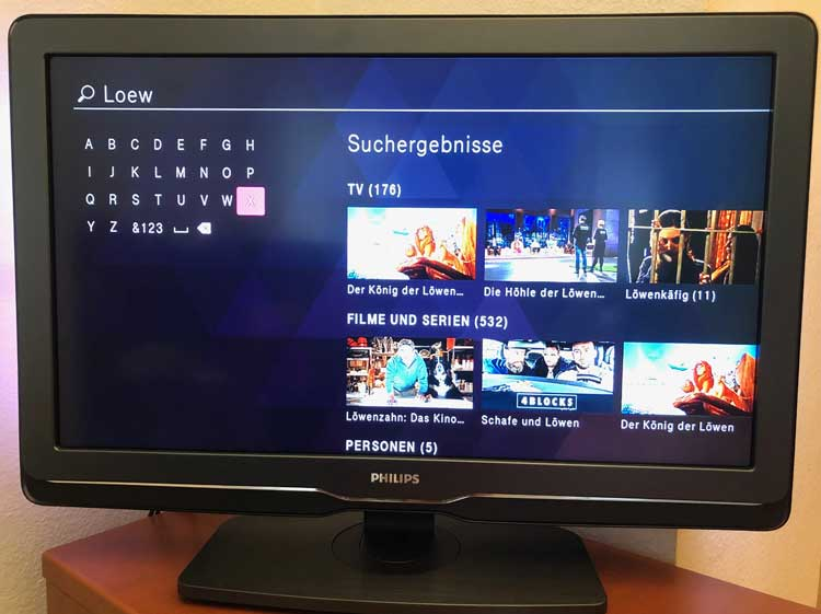 Magenta TV Suchfunktion