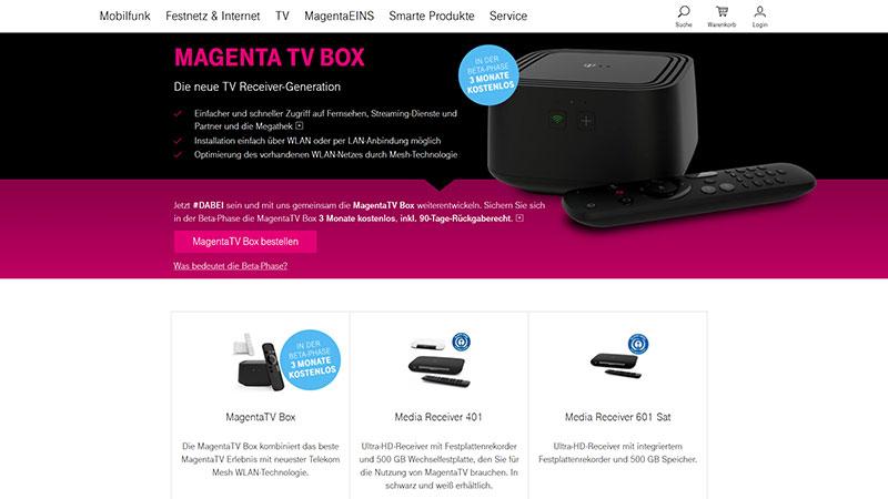 magenta tv test