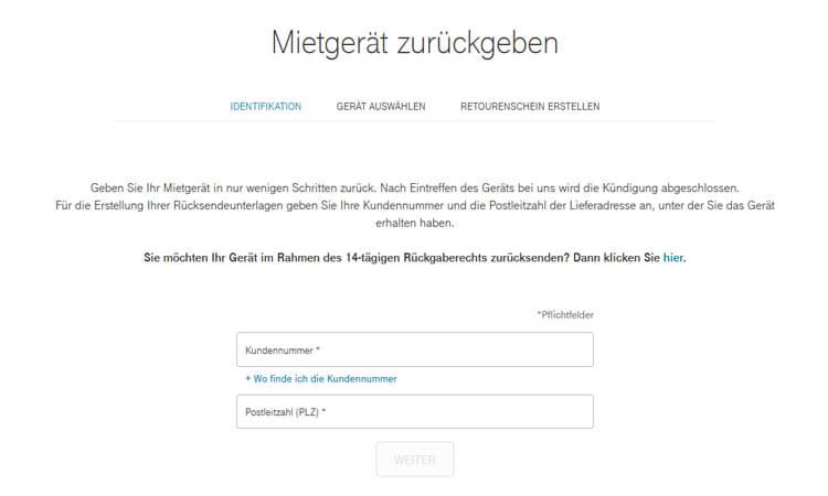 Geräteservice der Telekom: Mietgeräte kündigen und zurückgeben