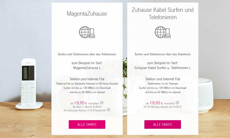 Telekom Zuhause Kabel Bestellprozess