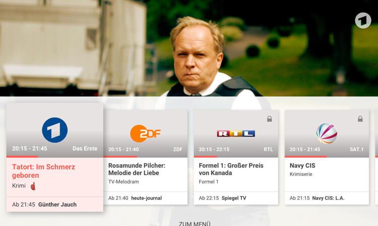 TV Spielfilm App auf dem Amazon Fire TV