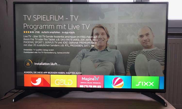 TV Spielfilm live auf Fire TV