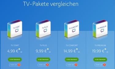 Screenshot Online-Shop Unitymedia Kabelanschluss
