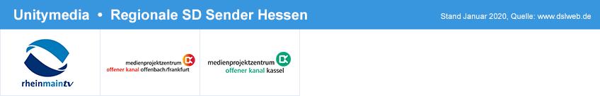 Zusätzliche digitale Sender bei Unitymedia (SD) in Hessen