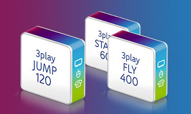 Online-Shop von Unitymedia mit 3play Tarifübersicht
