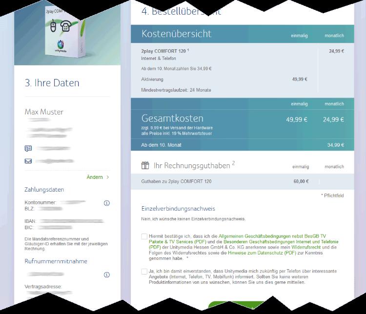 Unitymedia Anbieterwechsel: Bestellung überprüfen