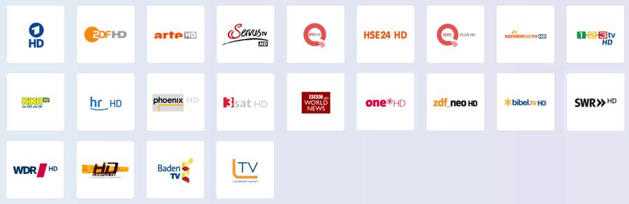 freie HD Sender über den Unitymedia Kabelanschluss in Baden-Württemberg