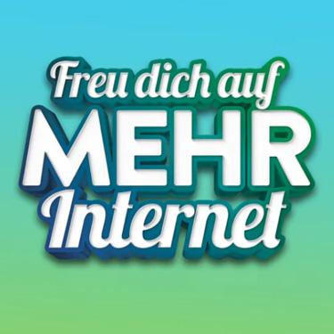 Unitymedia Freu dich auf mehr Internet Schriftzug