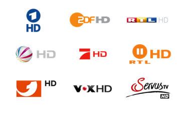 Auswahl der Unitymedia HD Sender