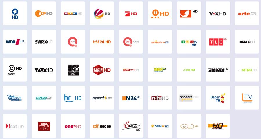 HD Sender von Unitymeda im Baden-Württemberg (mit HD-Option bzw. HD-Paket)