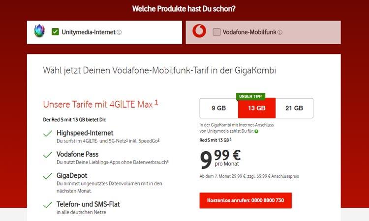 Unitymedia Vodafone Gigakombi