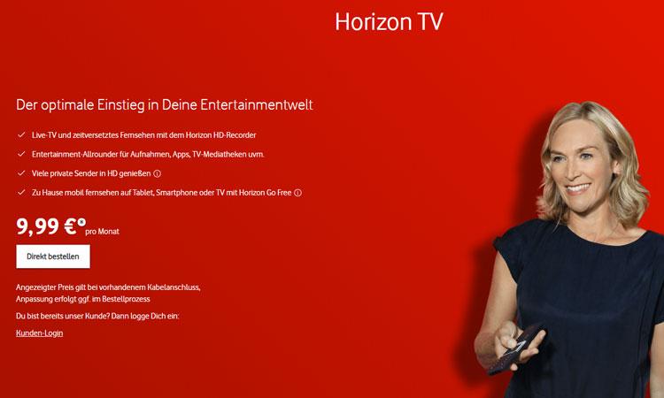 Vodafone Unitymedia Horizon TV