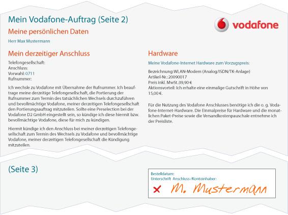 DSL Anbieterwechsel Vodafone Schritt 3