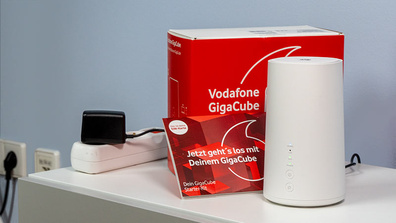 Vodafone GigaCube Basic Router an der Steckdose