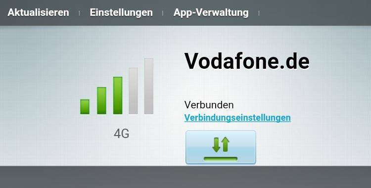 Vodafone GigaCube - LTE Signalstärke ablesen